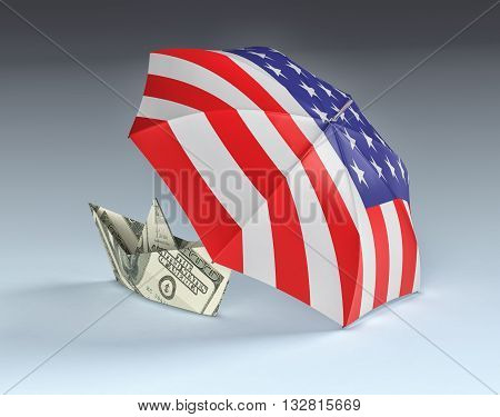 Concept Of Usa And Dollar Currency