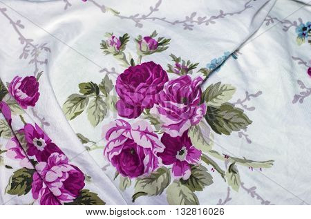 Bed Linen, Bed Sheet, Crumpled Fabric With A Pattern For Backgrounds