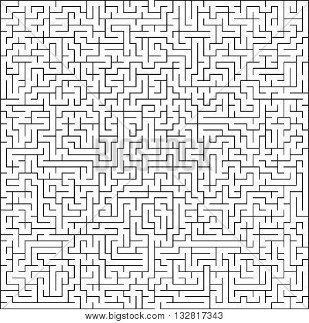 Abstract vector maze of high complexity template layout