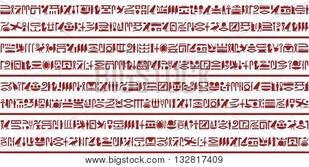 Ancient Egyptian hieroglyphic writing decorative background set.