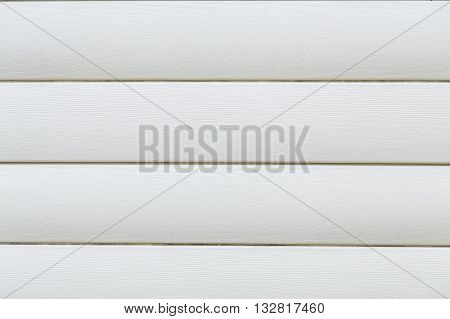 White wood texture background of a house wall