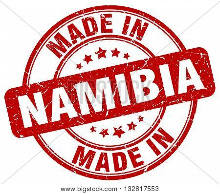 made in Namibia red round vintage stamp.Namibia stamp.Namibia seal.Namibia tag.Namibia.Namibia sign.Namibia.Namibia label.stamp.made.in.made in.