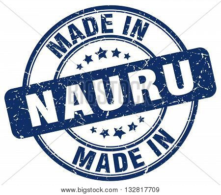 made in Nauru blue round vintage stamp.Nauru stamp.Nauru seal.Nauru tag.Nauru.Nauru sign.Nauru.Nauru label.stamp.made.in.made in.