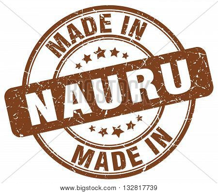 made in Nauru brown round vintage stamp.Nauru stamp.Nauru seal.Nauru tag.Nauru.Nauru sign.Nauru.Nauru label.stamp.made.in.made in.