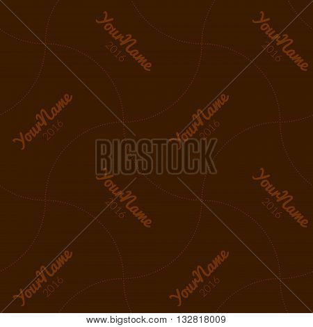 Watermark seamless pattern for business companies on blur background.