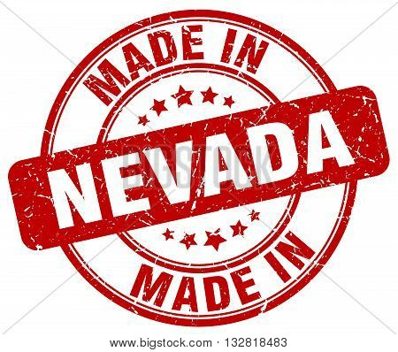 made in Nevada red round vintage stamp.Nevada stamp.Nevada seal.Nevada tag.Nevada.Nevada sign.Nevada.Nevada label.stamp.made.in.made in.