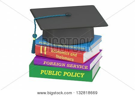 Public policy education 3D rendering isolated on white background