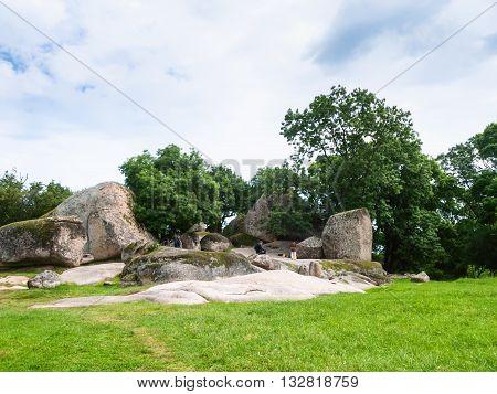 Tourists In Beglik Tash - Thracian Megaliths