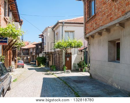 Street In Sozopol Old Town, Bulgaria