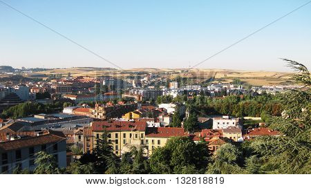Overview of the city of Burgos, Spain .
