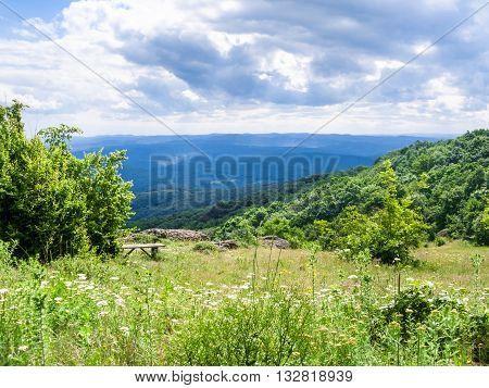 viewpoint in Bulgarian Strandzha mountain in Bulgaria