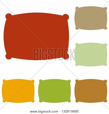 Pillow sign illustration. Colorful autumn set of icons.