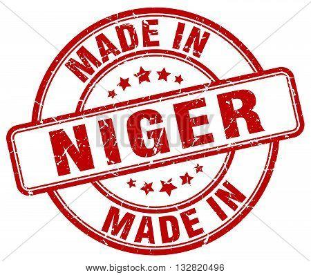 made in Niger red round vintage stamp.Niger stamp.Niger seal.Niger tag.Niger.Niger sign.Niger.Niger label.stamp.made.in.made in.