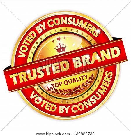 Trusted Brand. Voted by Consumers. Top Quality. -  elegant business label