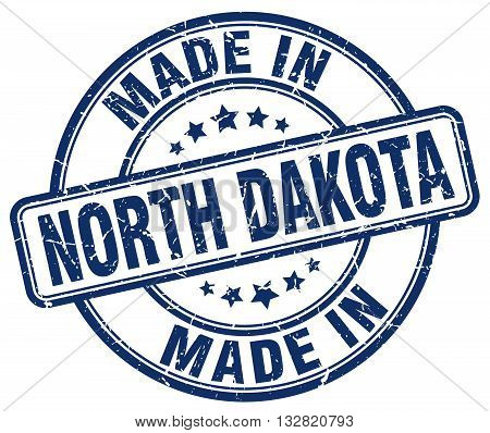 made in North Dakota blue round vintage stamp.North Dakota stamp.North Dakota seal.North Dakota tag.North Dakota.North Dakota sign.North.Dakota.North Dakota label.stamp.made.in.made in.