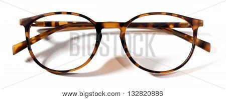 leopard spectacles eyeglasses isolated on white background
