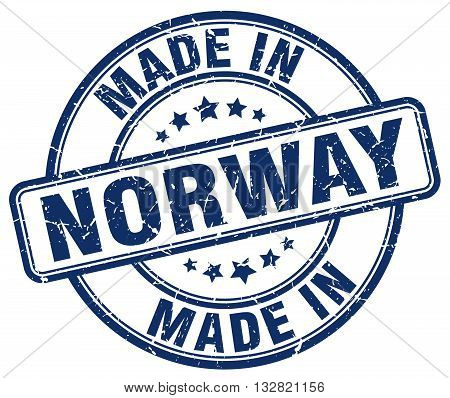 made in Norway blue round vintage stamp.Norway stamp.Norway seal.Norway tag.Norway.Norway sign.Norway.Norway label.stamp.made.in.made in.