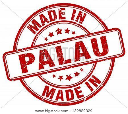 made in Palau red round vintage stamp.Palau stamp.Palau seal.Palau tag.Palau.Palau sign.Palau.Palau label.stamp.made.in.made in.