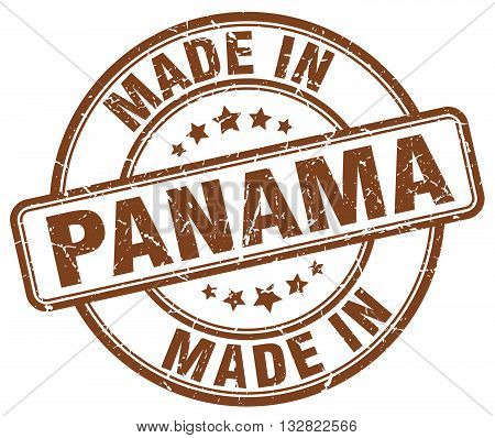 made in Panama brown round vintage stamp.Panama stamp.Panama seal.Panama tag.Panama.Panama sign.Panama.Panama label.stamp.made.in.made in.