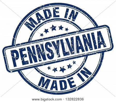 made in Pennsylvania blue round vintage stamp.Pennsylvania stamp.Pennsylvania seal.Pennsylvania tag.Pennsylvania.Pennsylvania sign.Pennsylvania.Pennsylvania label.stamp.made.in.made in.