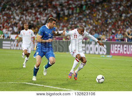 Uefa Euro 2012 Quarter-final Game England V Italy