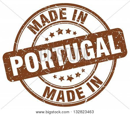 made in Portugal brown round vintage stamp.Portugal stamp.Portugal seal.Portugal tag.Portugal.Portugal sign.Portugal.Portugal label.stamp.made.in.made in.