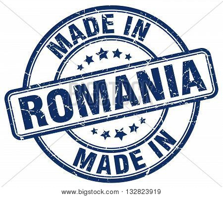 made in Romania blue round vintage stamp.Romania stamp.Romania seal.Romania tag.Romania.Romania sign.Romania.Romania label.stamp.made.in.made in.