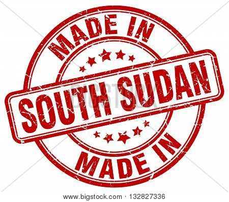 made in South Sudan red round vintage stamp.South Sudan stamp.South Sudan seal.South Sudan tag.South Sudan.South Sudan sign.South.Sudan.South Sudan label.stamp.made.in.made in.