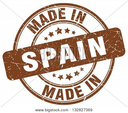 made in Spain brown round vintage stamp.Spain stamp.Spain seal.Spain tag.Spain.Spain sign.Spain.Spain label.stamp.made.in.made in.