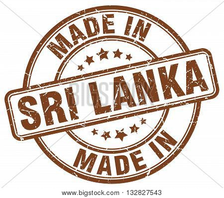 made in Sri Lanka brown round vintage stamp.Sri Lanka stamp.Sri Lanka seal.Sri Lanka tag.Sri Lanka.Sri Lanka sign.Sri.Lanka.Sri Lanka label.stamp.made.in.made in.
