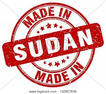 made in Sudan red round vintage stamp.Sudan stamp.Sudan seal.Sudan tag.Sudan.Sudan sign.Sudan.Sudan label.stamp.made.in.made in.
