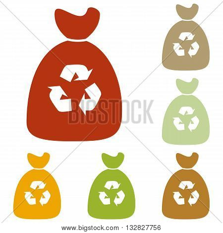 Trash bag icon. Colorful autumn set of icons.