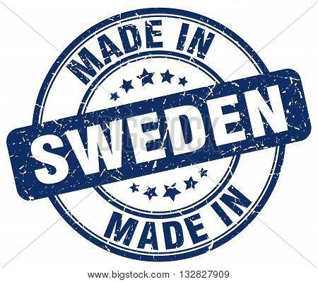 made in Sweden blue round vintage stamp.Sweden stamp.Sweden seal.Sweden tag.Sweden.Sweden sign.Sweden.Sweden label.stamp.made.in.made in.