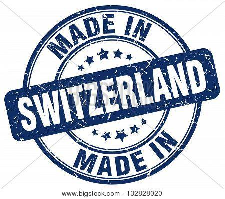 made in Switzerland blue round vintage stamp.Switzerland stamp.Switzerland seal.Switzerland tag.Switzerland.Switzerland sign.Switzerland.Switzerland label.stamp.made.in.made in.