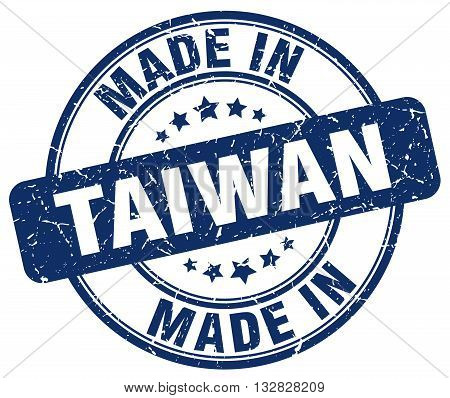 made in Taiwan blue round vintage stamp.Taiwan stamp.Taiwan seal.Taiwan tag.Taiwan.Taiwan sign.Taiwan.Taiwan label.stamp.made.in.made in.