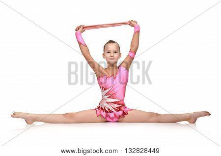 Girl Sitting On Split