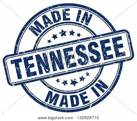 made in Tennessee blue round vintage stamp.Tennessee stamp.Tennessee seal.Tennessee tag.Tennessee.Tennessee sign.Tennessee.Tennessee label.stamp.made.in.made in.