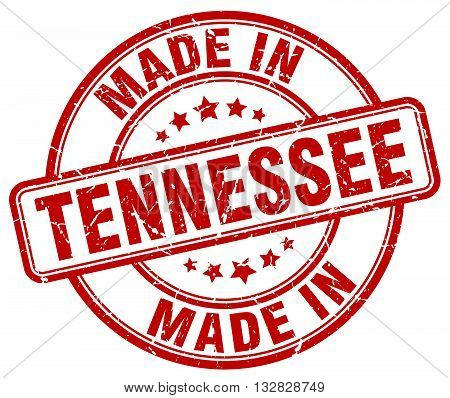 made in Tennessee red round vintage stamp.Tennessee stamp.Tennessee seal.Tennessee tag.Tennessee.Tennessee sign.Tennessee.Tennessee label.stamp.made.in.made in.