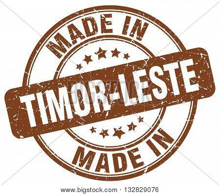 made in Timor-Leste brown round vintage stamp.Timor-Leste stamp.Timor-Leste seal.Timor-Leste tag.Timor-Leste.Timor-Leste sign.Timor-Leste.Timor-Leste label.stamp.made.in.made in.