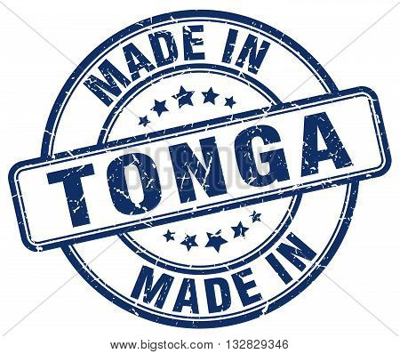 made in Tonga blue round vintage stamp.Tonga stamp.Tonga seal.Tonga tag.Tonga.Tonga sign.Tonga.Tonga label.stamp.made.in.made in.