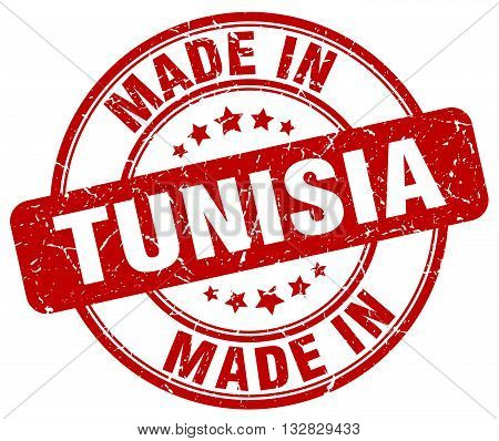 made in Tunisia red round vintage stamp.Tunisia stamp.Tunisia seal.Tunisia tag.Tunisia.Tunisia sign.Tunisia.Tunisia label.stamp.made.in.made in.