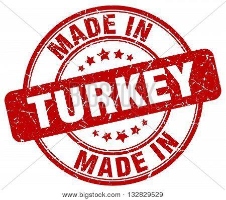 made in Turkey red round vintage stamp.Turkey stamp.Turkey seal.Turkey tag.Turkey.Turkey sign.Turkey.Turkey label.stamp.made.in.made in.