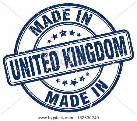 made in United Kingdom blue round vintage stamp.United Kingdom stamp.United Kingdom seal.United Kingdom tag.United Kingdom.United Kingdom sign.United.Kingdom.United Kingdom label.stamp.made.in.made in.