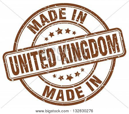 made in United Kingdom brown round vintage stamp.United Kingdom stamp.United Kingdom seal.United Kingdom tag.United Kingdom.United Kingdom sign.United.Kingdom.United Kingdom label.stamp.made.in.made in.