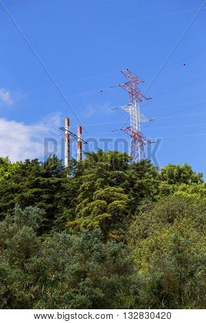 a electric a pillar in european nature