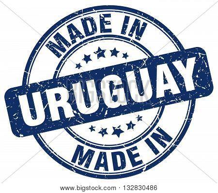 made in Uruguay blue round vintage stamp.Uruguay stamp.Uruguay seal.Uruguay tag.Uruguay.Uruguay sign.Uruguay.Uruguay label.stamp.made.in.made in.
