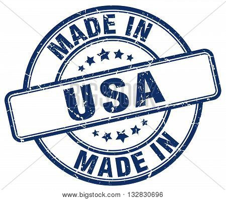 made in usa blue round vintage stamp.usa stamp.usa seal.usa tag.usa.usa sign.usa.usa label.stamp.made.in.made in.