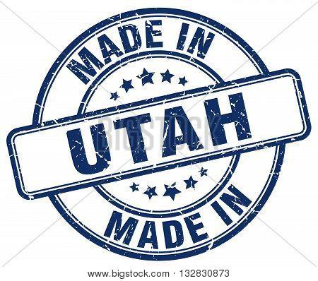 made in Utah blue round vintage stamp.Utah stamp.Utah seal.Utah tag.Utah.Utah sign.Utah.Utah label.stamp.made.in.made in.