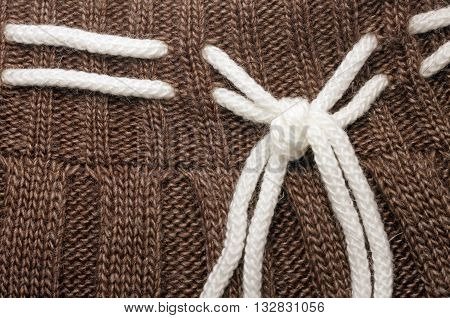 background knitwear. Knitted wool background with ornament texture