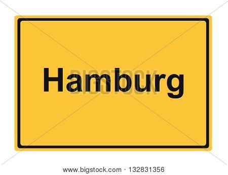 Hamburg street sign Highway road trip Holiday
